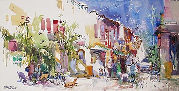 Singapore Watercolour Oil Painting Ng Woon Lam nws aws df