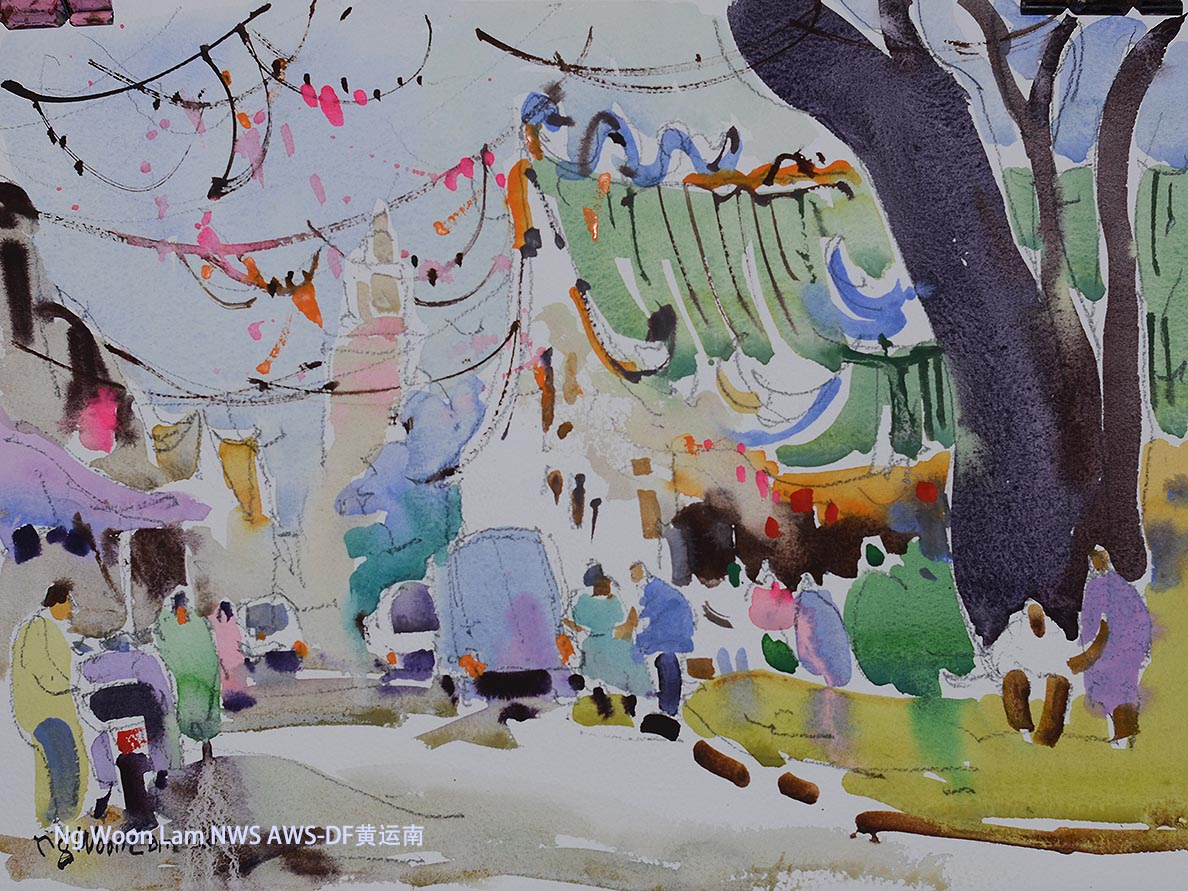 Singapore Watercolour Painting Ng Woon Lam nws awsdf df