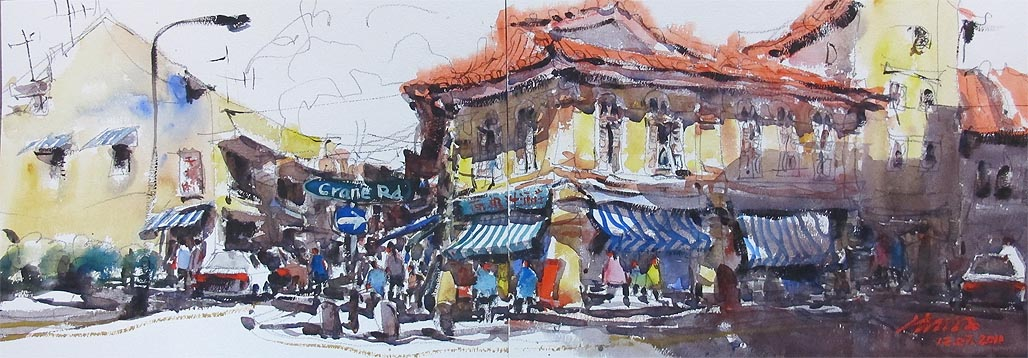 Zhu Hong Old Shop House Painting
